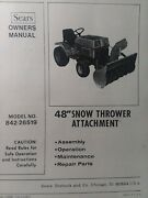 Sears Ff 18 20 24 Garden Tractor 48 Snow Thrower And Pto Owner And Parts 3 Manuals