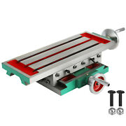 Compound Milling Machine Work Table 2 Axis Cross Slide Bench Drill Vise Fixture