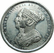 1854 Great Britain Uk Queen Victoria Albert Crystal Palace Medal I79721