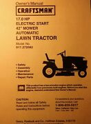 Sears Lt1000 Craftsman Hyd 17 Hp 42 Lawn Tractor Owner And Parts Manual 917.272082