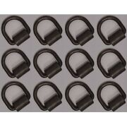 Set Of 12 Forged Weld-on 1/2 D Rings With Brackets Trailers Boats Buses