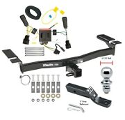 Trailer Tow Hitch For 11-15 Lincoln Mkx Complete Package W/ Wiring And 1-7/8 Ball