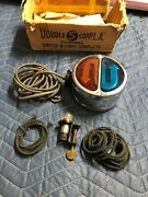 Vintage Rare Direction Lamp Double-s-corp Turn Signal Light Nos Glass 2 Side 6v