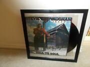 Stevie Ray Vaughan Autographed Soul To Soul Album Cover With Album And Coa