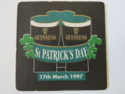 Beer Coaster Guinness Brewery March 17th, 1997, St Patrick's Day Ireland