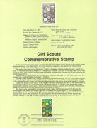 8711 22c Lot Of 5 Girl Scout Stamp 2251 5 Usps Souvenir Pages