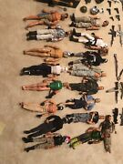 Action Figures Gi Joe Lot 17 Action Figures Accessories Weapons And Vehicles