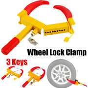 Wheel Lock Clamp Boot Tire Claw Auto Car Truck Rv Boat Anti-theft Towing Steel