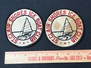 Vintage Iron On Patches Ice Boat Club 4 Saint Clair Shores