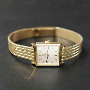 Omega Ladies Womens Small Solid 14k Yellow Gold Authentic Watch W/ Original Box