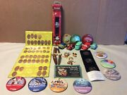 Mixed Lot Of Disney Items Mickey Watches Pins Brooches Pixar Cars Coins Buttons