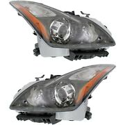 Hid Headlight Set For 2011-2013 Infiniti G37 Left And Right W/ Bulbs Pair