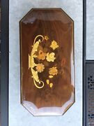 Reuge 15 Inlaid Swiss Musical Jewelry Box Lift Out Tray Plays Blue Danube +1andnbsp Andnbsp