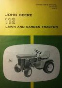 John Deere 112 Lawn Garden Tractor Owner And Snowblower Owner And Parts 3 Manual S