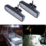 18w White Spreader Led Marine Light Bar Flood Beam For Boat Jeep Driving Lights
