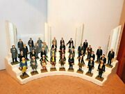 Entire Set + Original Display 36 Marx Presidents America 1960and039s + Book Added