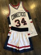 Delong Authentic Ray Allen 34 Connecticut Uconn Huskies Jersey And Shorts