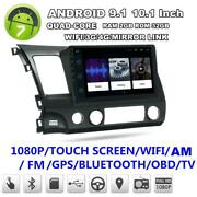 10.1and039and039 Android 9.1 Quad-core 2gb+32gb Car Stereo Radio Gps For 06-11 Honda Civic
