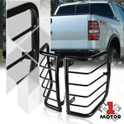 Black Stainless Steel Tail Light/lamp Guard Protector Cover For 04-08 Ford F150