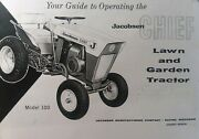 Jacobsen Chief First Model 100 Lawn Garden Tractor Owners Manual 1961 7 Hp K161s
