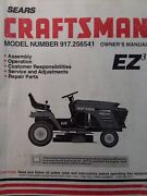 Sears Craftsman 15.0hp 6sp 42 Mower Lawn Tractor Owner And Parts Manual 917.256541