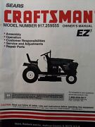 Sears Craftsman 15.5 Hydro 42 Mower Lawn Tractor Owner And Parts Manual 917.259555