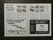 Vintage 1967 Murray Full Line Pedal Cars Tricycles Bicycles 44 Models Article