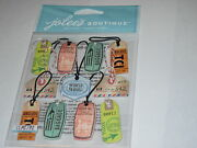 Scrapbooking Crafts Jolee's Stickers Travel Tags Sayings World Air Baggage Mail