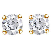 1-1/4 Cttw Round Cut Diamond Stud Earrings In 14k Yellow Gold Christmas Special