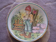 Vintage V. Tiziano Valentine's Day 1979 Limited Edition Plate, 7 1/2 D X 1 H