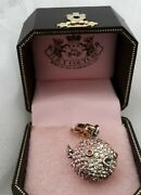 Nib Juicy Couture Pave Puffer Fish Movable Fins Rare Retired Collectible Charm