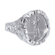 American Eagle Coin In -14k Nugget Ring 14k White Gold