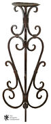 Heavy Wrought Iron Scrolled Plant Stand Pedestal Candle Holder 48 Display