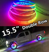 15.5double Row Chasing Flowing Blueototh App Illuminated Led Wheel Rings Lights
