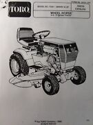 Toro Wheel Horse 416-h 73421-3900001 And Up Lawn Garden Tractor Parts Manual