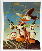 1990s Carl Barks/uncle Scrooge Print- Sheriff Of Bullet Valley 13x15 C1336