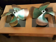 Hill Marine 4 Blade Propeller Believed To Be 24 Blade Pitch 25 1 1/2 Shaft