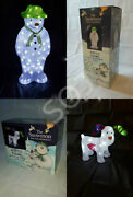 55cm The Snowman And The Snowdog Acrylic Ice White Led Outdoor Christmas - Xmas