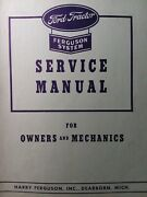 Ford Ferguson System 9n Farm Tractor Owner And Major Overhaul Service Shop Manual