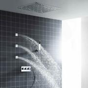 Ceiling Mounted Led Shower System Stainless Steel 20 Inch Oil Rubbed Bronze