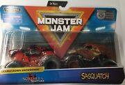 2019 Spin Master Monster Jam 1/64 Set Of 2 Sasquatch And Northern Nightmare