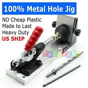 Pocket Hole Jig Drill Guide Master Kit Carpenter Joinery System Woodworking New