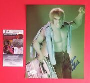 Lou Ferrigno Signed And Inscribed With The Hulk 8x10 Photo With Jsa Coa