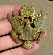 Ww2 Us Army Military Theater Made Kg Luke Officer Hat Cap Badge Pin Insignia