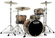 Pacific Drums Pdcb2014 Concept Birch 4pc Drum Shell Pack Natural-charcoal Fade