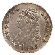 1809 Capped Bust 50c Pcgs Certified Au50 Overton 109a Iii Edge
