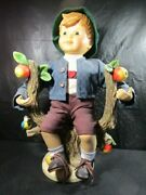 Hummel Large Apple Tree Boy  14 Inch Old Figurine, Excellent Condition