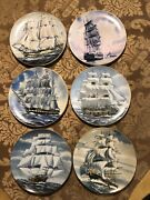 9inc Plates The Great American Sailing Ships 12 Plates Classic Rose Collection