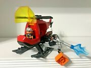 Lego Duplo Fire Helicopter Vehicle 4967 Fire Fighters Flame Water Hose Lot Set