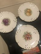 8 Inch Nymphenburg Handpainted Desert 3 Plates Plus 2 Extra With Cheap